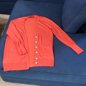 Used Orange Tommy Bahama V Neck Cardigan